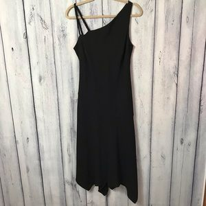 Evan Picone Dress Midi Formal Lined Black